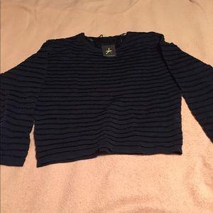 Navy Sweater Top